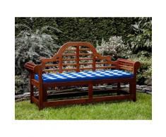 Panchina in legno 180cm con cuscino blu bianco zigzag TOSCANA marlboro