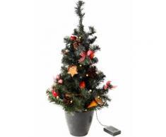 Albero di Natale artificiale con luci LED (Rosso) - bpc living