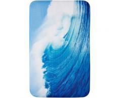 Tappetino per bagno Onda in memory foam (Blu) - bpc living