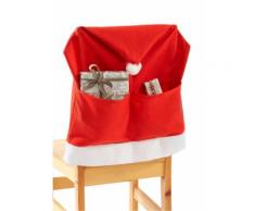 Coprisedia Babbo Natale (set 4 pezzi) (Rosso) - bpc living