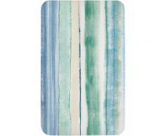 Tappetino per il bagno Righe con memory foam (Blu) - bpc living