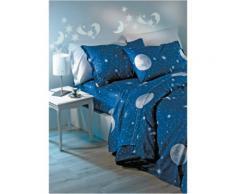 Biancheria letto Moon (Blu) - Euronova