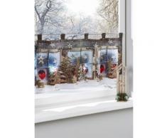 Tendina da bistrot con LED Magia di Natale (Fucsia) - bpc living