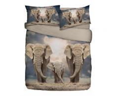 Biancheria letto Elefanti (Grigio) - Euronova