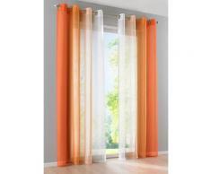 Tenda Sfumatura (pacco da 2), Occhielli (arancione) - bpc living