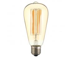 Lampadina Led E27 6W Modello ST64 lampadine attacco grosso Vite