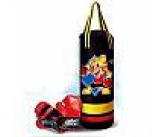 Sacco boxe con guantoni con effetti sonori gioco per bambini allenamento pugilato sacca box da appendere
