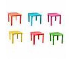 Tavolino in plastica colorato per bambini tavolo da gioco per cameretta giardino