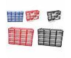 Cassettiera multiuso in plastica organizer porta miniature casa ufficio 16 cassetti 22x16x7 cm