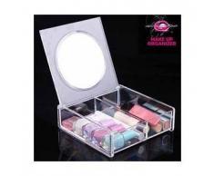 Organizer porta trucchi cosmetici contenitore trucco con specchio scatola make up