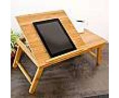 Tavolino da letto porta computer tablet pc 4 inclinazioni leggio in legno 68827