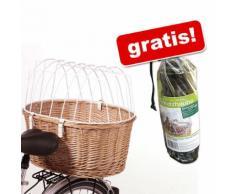 Cesta posteriore da bici con grata protettiva Aumüller + antipioggia gratis - Cesta L 53 x P 35 x H 43 cm + antipioggia gratis