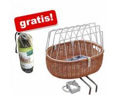 Cesta da bici Aumüller con grata + antipioggia gratis - Cesta L 52 x P 38 x H 39 cm + antipioggia gratis