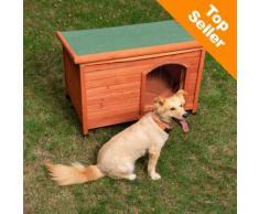Cuccia per cani Woody con tetto piano - L 85 x P 57 x H 58 cm