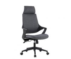 Sedia per Ufficio con Schienale Alto Design Moderno Grigio