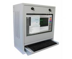 Armadio di sicurezza per PC, monitor LCD e tastiera Bianco