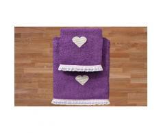 Asciugamani Heart: Prugna / 1 set