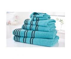 Set di 6 asciugamani: Turchese