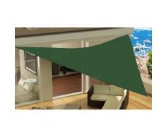 Tenda da sole triangolare: Verde scuro / 4 x 4 x 4 m