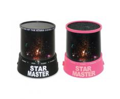 2x Luce notturna Star Master: Nero, rosa
