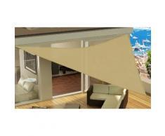 Tenda da sole triangolare: Sabbia / 4 x 4 x 4 m