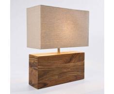 Kare Lampada da tavolo RECTANGULAR WOOD, base di legno
