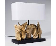 Kare Lampada da tavolo Nature Vertical, base in legno