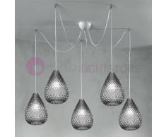 Due P Illuminazione Goccia Lampada A Sospensione A 5 Luci In Vetro Design Moderno