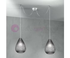 Due P Illuminazione Goccia Lampada A Sospensione A 2 Luci In Vetro Design Moderno