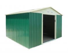 Caesaroo Box casetta giardino lamiera zincata verde pert L
