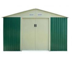 Caesaroo Box casetta giardino 311 x 411 x 205 CM lamiera zincata pert XXL verde