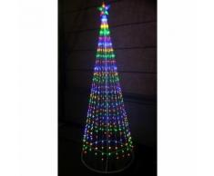 Albero di natale style basic 576 led+flash con stella altezza 2 mt 12v multicolor