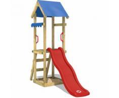 WICKEY Parco giochi TinySpot Gioco da giardino per bambini con scivolo, sabbiera, tetto