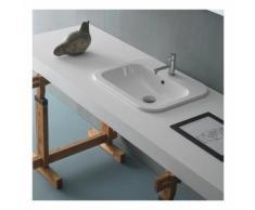 Lavabo da incasso soprapiano Ceramica Globo Stone 55x45 SSN55.BI