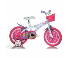 Bicicletta Barbie Ruota 16 Pollici Rotelle 4-5 anni 2 Freni Portabambola Cestino