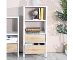 Libreria Scaffale 3 Ripiani con Cassetti Legno Design Moderno Casa Ufficio 101cm
