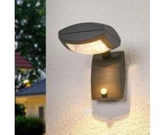Faretto per esterni LED Levio sensore grigio scuro