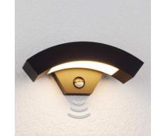 Applique da parete Lennik, a LED, sensore, esterni