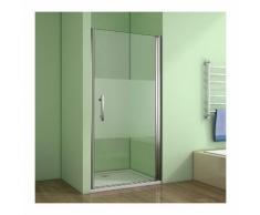 100x185cm Aica box doccia per nicchia porta apertura a battente verso esterno,Cristallo temperato