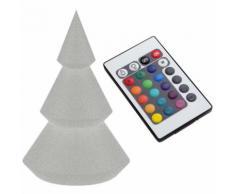 Lampada Albero Di Natale Led Da Terra Interno/esterno 16 Colori H49cm Arkema P110