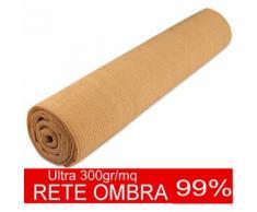 STI Rete ombreggiante Ultra telo Ombra 99% frangivista H 400cm x 50mt 300gr Beige