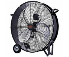 Ventilatore ventilatori industriale da terra pavimento con ruote 140w pala 75cm