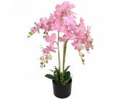 Orchidea Artificiale con Vaso 75 cm Rosa