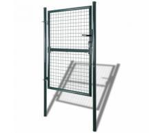 Cancello recinto per giardino rete griglia 85,5 x 175 cm/100 x 225 cm