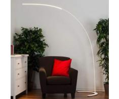 Danua - lampada LED da terra bianca minimalista