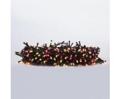 Catene Luminosa Serie Luci Natalizie da Esterno 500 LED con Trasformatore 24v Bianco Caldo Rosso