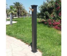 Fontana a colonna modello olimpia in acciaio e ghisa per esterno casa giardino + rubinetto 303b