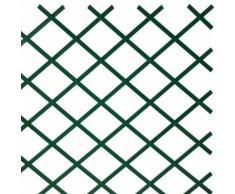 Traliccio in Plastica Verde grigliato estensibile 100x400 cm per piante e fiori