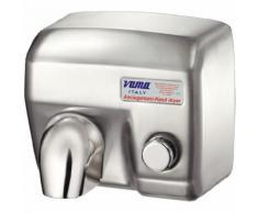 Asciugamani Elettrico Antivandalo Con Pulsante 2400w Vama Ariel Sp Acciao Inox Satinato