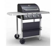 Barbecue a gas by 'IMPERIAL BARBECUE': struttura in acciaio e coperchio con termometro
